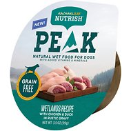 Rachael Ray Nutrish Peak Grain-Free Wetlands Recipe with Chicken & Duck in Rustic Gravy Wet Dog Food, 3.5-oz, case of 16