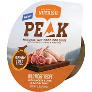 Rachael Ray Nutrish Peak Grain-Free Wild Ridge Recipe with Chicken & Lamb in Savory Gravy Wet Dog Food, 3.5 oz, case of 16