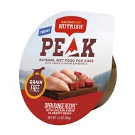 Rachael Ray Nutrish PEAK Grain-Free Open Range Recipe with Chicken & Beef in Hearty Gravy Wet Dog Food, 3.5 oz, case of 16