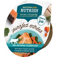 Rachael Ray Nutrish Purrfect Entrees Grain-Free Sea-Sational Florentine with Wild Caught Salmon & Veggies in Creamy Sauce Wet Cat Food, 2-oz, case of 24
