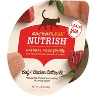 Rachael Ray Nutrish Grain-Free Beef & Chicken Catterole Wet Cat Food, 2.8-oz, case of 12