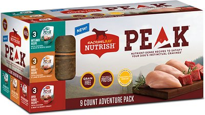 4. Rachael Ray Nutrish PEAK Grain-Free Adventure Variety Pack Wet Dog Food