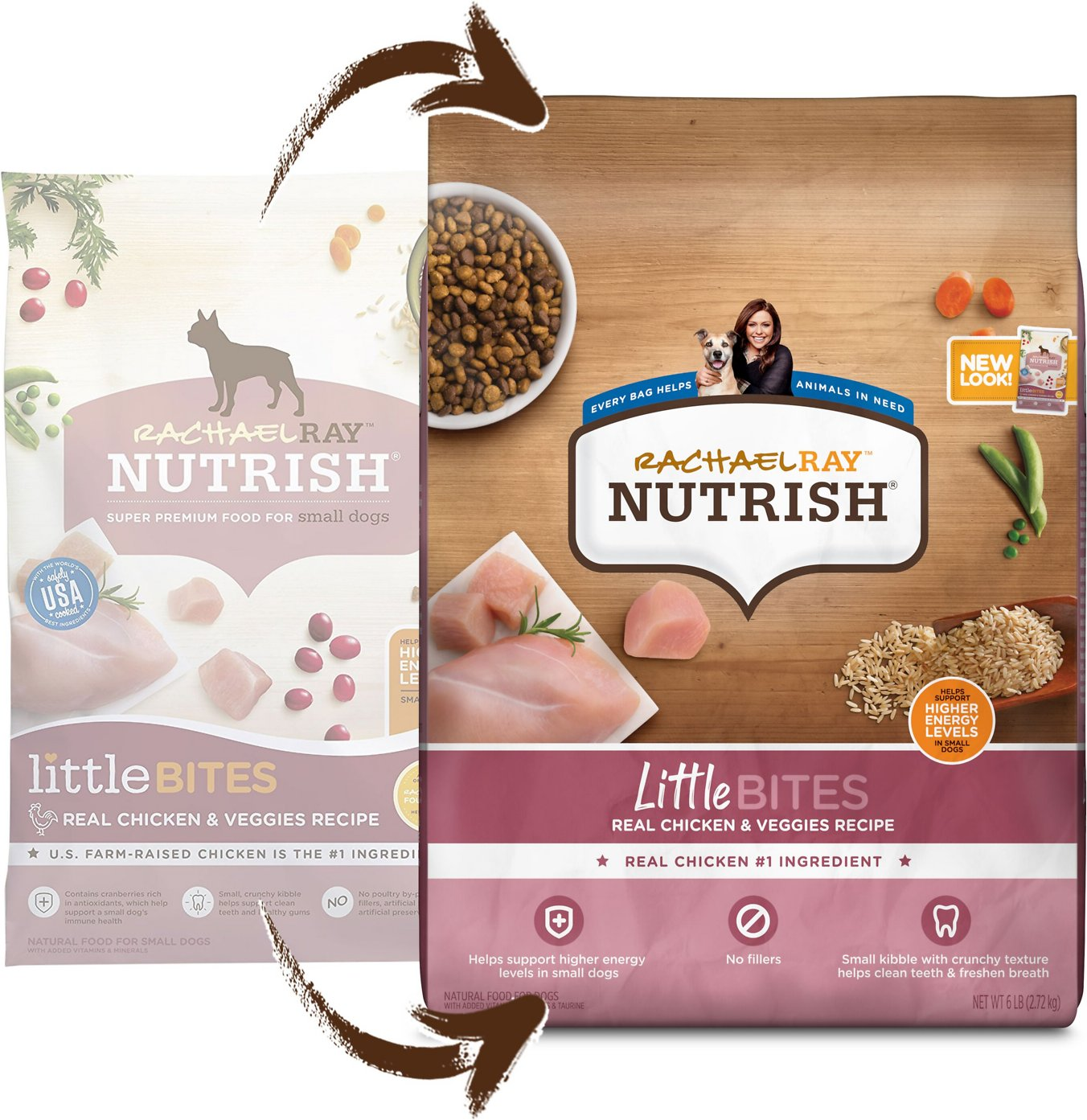 Rachael Ray Nutrish Little Bites Small Breed Natural Real Chicken & Veggies  Recipe Dry Dog Food, 6-lb bag