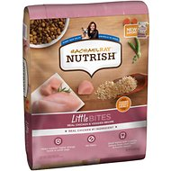 Rachael Ray Nutrish Little Bites Small Breed Natural Real Chicken & Veggies Recipe Dry Dog Food, 14-lb bag