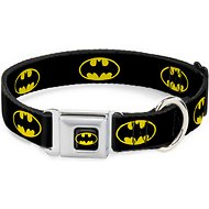 Buckle-Down Batman Shield Seatbelt Buckle Dog Collar, Large