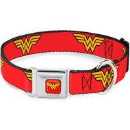Buckle-Down Wonder Woman Seatbelt Buckle Dog Collar, Wide Medium