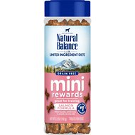 Natural Balance L.I.D. Limited Ingredient Diets Mini Rewards Salmon Formula Dog Treats, 5.3-oz jar