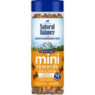 Natural Balance L.I.D. Limited Ingredient Diets Mini Rewards Turkey Formula Dog Treats, 5.3-oz jar