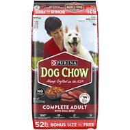 Dog Chow Complete Adult with Real Beef Dry Dog Food, 52-lb bag