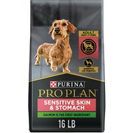 Purina Pro Plan Small Breed Adult Sensitive Skin & Stomach Formula Dry Dog Food, 16-lb bag