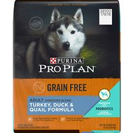 Purina Pro Plan Adult Shredded Blend Turkey, Duck, & Quail Formula Grain-Free Dry Dog Food, 12-lb bag