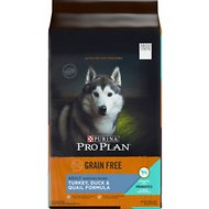 Purina Pro Plan Adult Shredded Blend Turkey, Duck, & Quail Formula Grain-Free Dry Dog Food, 24-lb bag