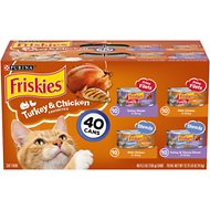 Friskies Turkey & Chicken Favorites Variety Pack Canned Cat Food, 5.5-oz, case of 40