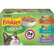 Friskies Indoor Variety Pack Canned Cat Food, 5.5-oz, case of 24