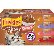Friskies Extra Gravy Chunky Variety Pack Canned Cat Food, 5.5-oz, case of 24