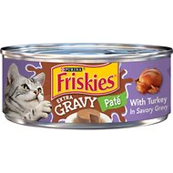Friskies Extra Gravy Pate with Turkey in Savory Gravy Canned Cat Food, 5.5-oz, case of 24