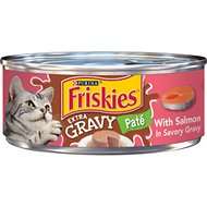 Friskies Extra Gravy Pate with Salmon in Savory Gravy Canned Cat Food, 5.5-oz, case of 24