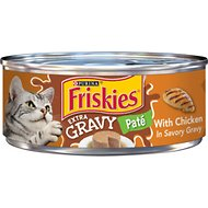 Friskies Extra Gravy Pate with Chicken in Savory Gravy Canned Cat Food, 5.5-oz, case of 24