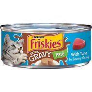 Friskies Extra Gravy Pate with Tuna in Savory Gravy Canned Cat Food, 5.5-oz, case of 24