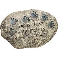 "Evergreen Enterprises ""Dogs Leave Paw Prints On Our Hearts"" Memorial Garden Stone"