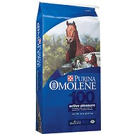 Purina Animal Nutrition Omolene 100 Active Pleasure Horse Feed, 50-lb bag