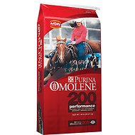 Purina Animal Nutrition Omolene 200 Performance Horse Feed, 50-lb bag