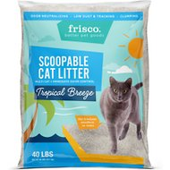 Frisco Tropical Breeze Scent Multi-Cat Clumping Cat Litter, 40-lb bag