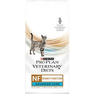 Purina Pro Plan Veterinary Diets NF Kidney Function Advanced Care Formula Dry Cat Food, 3.15-lb bag