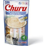 Inaba Churu Grain-Free Tuna Puree Lickable Cat Treat, 0.5-oz tube, 4 count