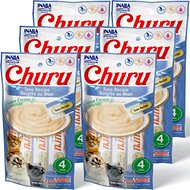 Inaba Churu Grain-Free Tuna Puree Lickable Cat Treat, 0.5-oz tube, 24 count