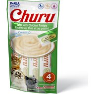 Inaba Churu Grain-Free Tuna with Chicken Puree Lickable Cat Treat, 0.5-oz tube, pack of 4