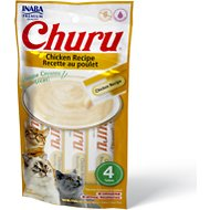 Inaba Churu Grain-Free Chicken Puree Lickable Cat Treat, 0.5-oz tube, pack of 4