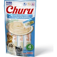 Inaba Churu Grain-Free Tuna with Scallop Puree Lickable Cat Treat, 0.5-oz tube, pack of 4