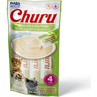 Inaba Churu Grain-Free Chicken with Scallop Puree Lickable Cat Treat, 0.5-oz tube, pack of 4