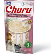 Inaba Churu Grain-Free Tuna with Salmon Puree Lickable Cat Treat, 0.5-oz tube, pack of 4