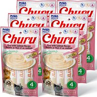 Inaba Churu Grain-Free Tuna with Salmon Puree Lickable Cat Treat, 0.5-oz tube, pack of 24