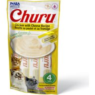 Inaba Churu Grain-Free Chicken with Cheese Puree Lickable Cat Treat, 0.5-oz tube, pack of 4