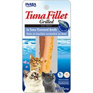 Inaba Ciao Grain-Free Grilled Tuna Fillet in Tuna Flavored Broth Cat Treat, 0.52-oz pouch