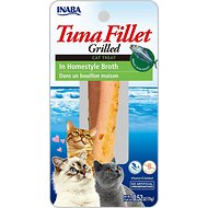 Inaba Ciao Grain-Free Grilled Tuna Fillet in Homestyle Broth Cat Treat, 0.52-oz pouch