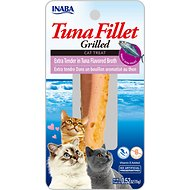 Inaba Ciao Grain-Free Grilled Tuna Fillet Extra Tender in Tuna Flavored Broth Cat Treat, 0.52-oz pouch