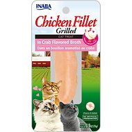 Inaba Ciao Grain-Free Grilled Chicken Fillet in Crab Flavored Broth Cat Treat, 0.9-oz pouch