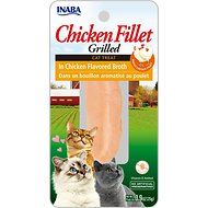 Inaba Ciao Grain-Free Grilled Chicken Fillet in Chicken Flavored Broth Cat Treat, 0.9-oz pouch