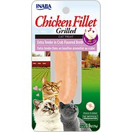 Inaba Ciao Grain-Free Grilled Chicken Fillet Extra Tender in Crab Flavored Broth Cat Treat