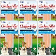 Inaba Ciao Grain-Free Grilled Chicken Fillet in Scallop Flavored Broth Cat Treat, 0.9-oz pouch, pack of 6