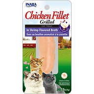 Inaba Ciao Grain-Free Grilled Chicken Fillet in Shrimp Flavored Broth Cat Treat, 0.9-oz pouch