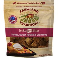 Farmland Traditions USA Jerky Soft Bites Turkey, Cranberry, & Sweet Potato Dog Treats, 3-lb bag