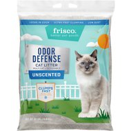 Frisco Unscented Odor Defense Clumping Cat Litter, 35-lb