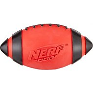 Nerf Dog Classic Squeak Football Dog Toy, Medium, Red