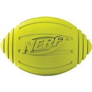 Nerf Dog Ridged Squeak Football Dog Toy, Large, Green