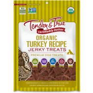 Tender & True Organic Turkey Jerky Dog Treats, 4-oz bag